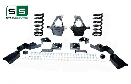 "99 - 00 Silverado / Sierra 1500 (V8)  5"" / 6"" Coil Drop Kit + C-Notch"