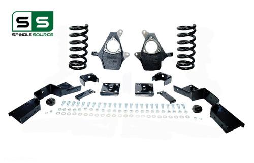 "99 - 00 Silverado / Sierra 1500 (V6)  5"" / 6"" Coil Drop Kit + C-Notch"