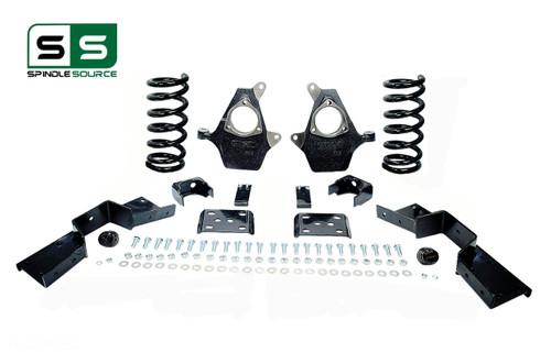 "01 - 06 Silverado / Sierra 1500 (V6)  5"" / 6"" Coil Drop Kit + C-Notch"