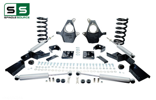 "99 - 00 Silverado / Sierra 1500 (V6)  5"" / 6"" Drop Kit + Shocks, C-Notch"