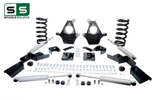 "01 - 06 Silverado / Sierra 1500 (V8)  5"" / 6"" Drop Kit + Shocks, C-Notch"