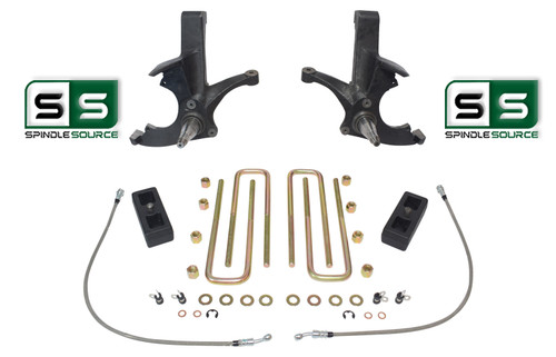"4.5""/2"" LIFT SPINDLES ,LIFT BLOCKS W/O.L. FITS 88-00 CHEVY C2500/C3500 2WD 8 LUG"