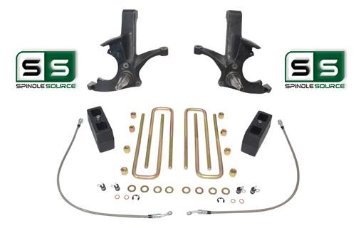 "4.5""/4"" LIFT SPINDLES ,LIFT BLOCKS W/O.L. FITS 88-00 CHEVY C2500/C3500 2WD 8 LUG"
