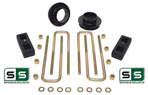 """2""""/2"""" COIL SPACERS,REAR BLOCKS W/OUT O.L. FITS 88-00 CHEVY C2500/C3500 2WD 8 LUG"""