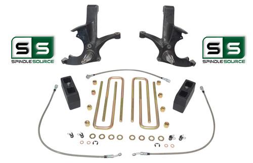 "4.5""/4"" SPINDLES,BLOCKS,RR LN W/OUT O.L. FITS 88-00 CHEVY C2500/C3500 2WD 8 LUG"