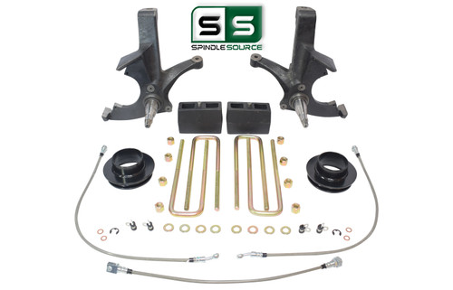 """6.5""""/4"""" SPINDLES,BLKS,SPACER,BKLN WO/O.L. FITS 88-00 CHEVY C2500/C3500 2WD 8 LUG"""