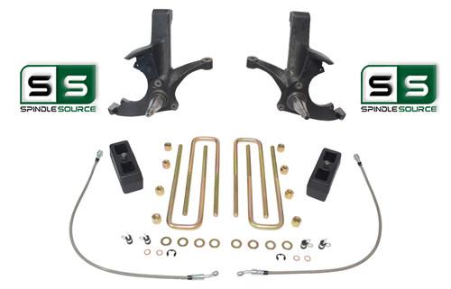 "4.5""/3"" LIFT SPINDLES ,LIFT BLOCKS W/O.L. FITS 88-00 CHEVY C2500/C3500 2WD 8 LUG"