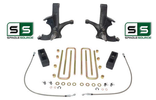 """4.5""""/3"""" SPINDLES,LIFT BLOCKS W/OUT O.L. FITS 88-00 CHEVY C2500/C3500 2WD 8 LUG"""