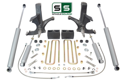 "4.5""/4"" SPINDLES,BLKS,SHOCKS,RR LN W/O.L. FITS 88-00 CHEVY C2500/C3500 2WD 8 LUG"