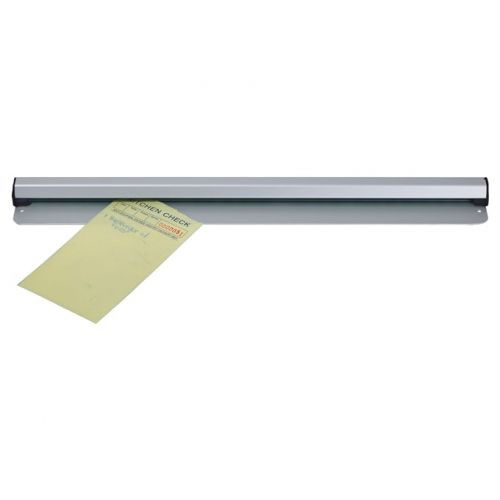 Aluminum, mounts onto walls or counters.