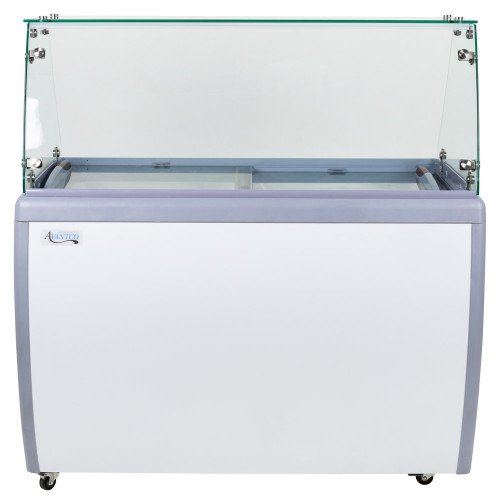 """Flat Glass Ice Cream Dipping Cabinet - 49"""""""