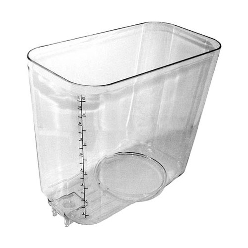 """5 GAL. - Clear, plastic. Lighter and more durable than glass.  Dimensions:   8-1/10""""H , 15-3/4""""W , 14-1/5""""L"""