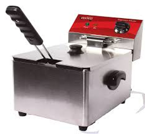 10 lb Capacity - 120V, 1750W. Has thermostatic controls ranging between 120 and 370 degrees F. S/S - with removable fry tank making it easier to clean and maintain. Fryer basket has a front hanger for setting above oil. Comes with and night cover and crumb tray.