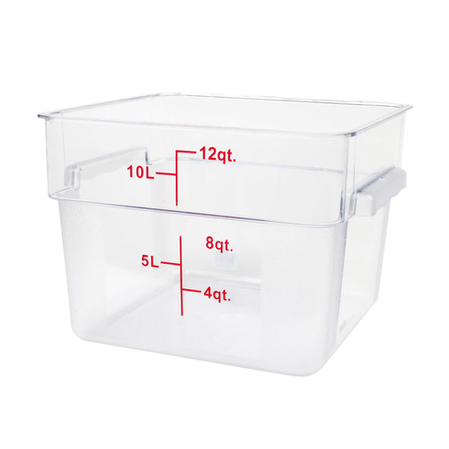 12QT FOOD CONTAINER - SQUARE CLEAR