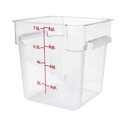 8QT FOOD CONTAINER - SQUARE CLEAR