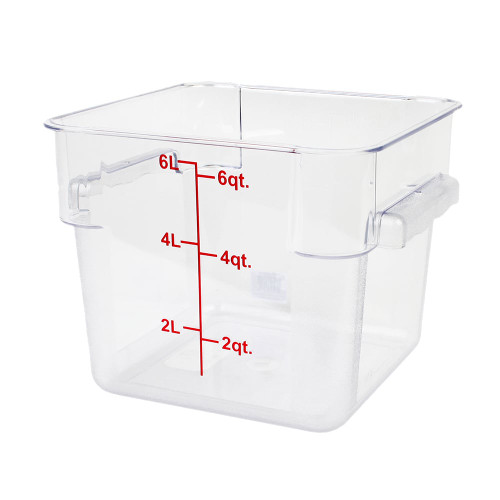 6QT FOOD CONTAINER - SQUARE CLEAR