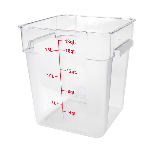 18QT FOOD CONTAINER - SQUARE CLEAR