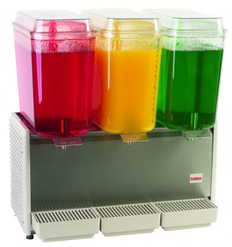 CRATHCO TRIPLE 5 GALLON BOWL REFRIGERATED BEVERAGE DISPENSER D35-4 *CALL FOR ACCURATE PRICING*