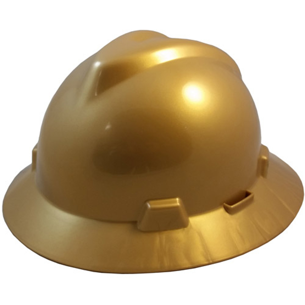 White Suspension MSA V-Guard Cap Style Hard Hat with Pin Lock Staz-On