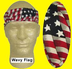 Occunomix #940-WAV Miracool Cooling Bandannas Wavy Flag Design