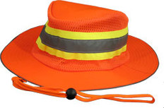 ERB #61588 Safety Helmet Boonie Reflective Hats - Orange Color