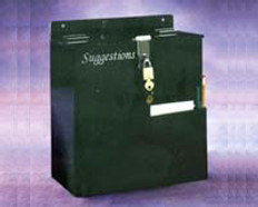 "AKLTD #AK-1702 Suggestion Box With Hasp & Lock, Large - 10-3/4""W X 11-1/2""H X 6-1/2""D inches"
