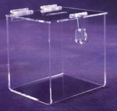 """AKLTD #C0035 Suggestion Box With Hasp & Lock - 10""""W X 10""""H X 9-3/4""""D inches"""