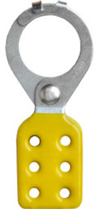 Rack Em #RE5515 Lockout Safety Hasps 1.5 inch Steel with Yellow Rubberized Coating