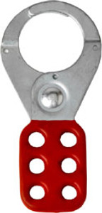 Rack Em #RE5502 Lockout Safety Hasps 1.5 inch Steel with Red Rubberized Coating