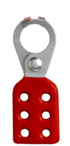 Rack Em #RE5503 Lockout Safety Hasps 1 inch Steel with Red Rubberized Coating