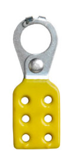 Rack Em #RE5514 Lockout Safety Hasps 1 inch Steel with Yellow Rubberized Coating
