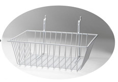 Rack Em # RE5082-W Wire Basket Safety Supplies Holders 12ix12x4, White