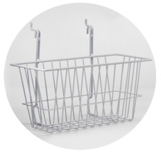 Rack Em # RE5081-W Wire Basket Safety Supplies Holders 12x6x6, White