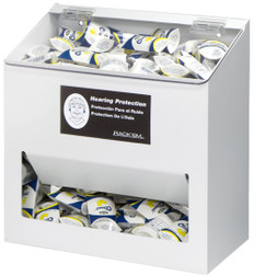 Rack Em # RE5134-W 300-Pair Protective Earplug Holders with Lid, White
