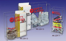 "AKLTD #AK-229-13 Triple Wide Safety Eyewear Holders - 24""W X 19""H X 4""D inches"