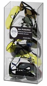 Rack Em # RE5143 20-Pair Safety Eyewear Holders No Lid, Clear