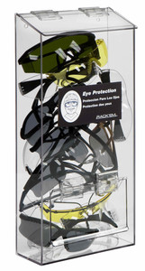 Rack Em # RE5145 20-Pair Safety Eyewear Holders with Lid & door, Clear