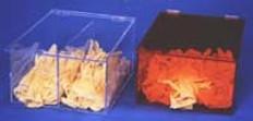 "AKLTD #AK-794-1A Bulk Glove Holders Amber Acrylic - 12""W X 7-3/4""H X 15""D inches"