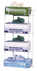 Rack Em # RE4015 Top Dispensing Medical Glove Holders, Holds 4 Boxes