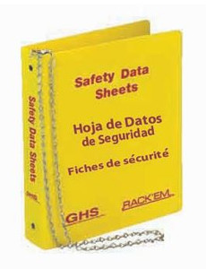 MSDS Binder, 3 inch, 3 Language - English, Spanish & French Canadian.