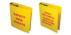 """Right to Know Binder for MSDS Sheets 1.5"""" Diameter Rings"""