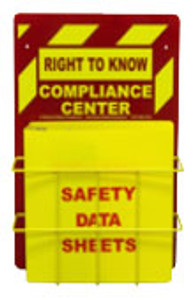 "Right-To-Know Center With Sign, Wire Rack and MSDS Binder (1.5"" Diameter Rings) - English"