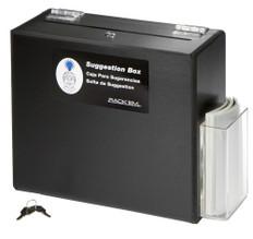 Suggestion Box / Ballot Box, Lockable, BLACK HEAVY-DUTY PLASTIC