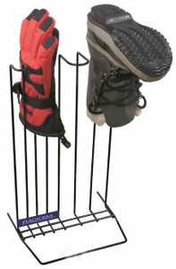 Boot and Glove Drying Rack, Black, Holds 1 pair of Boots and 1 pair of Gloves - Illustration