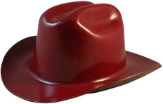 Jackson Stetson Style Safety Helmet with Ratchet Liners - Maroon - Oblique View