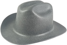 Jackson Stetson Style Safety Helmet with Ratchet Liners - Textured Granite Gray - Oblique View