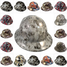 Hydrographic Full Brim GLOW IN THE DARK Hardhats - Ratchet Suspension