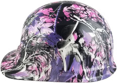 hdhh-782-CS Glamour Hydrographic CAP STYLE Hardhats - Ratchet Suspension - Left Side View