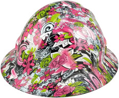 HDHH-1639-FB Maui Vacation FULL BRIM Hydrographic Hardhats ~ Oblique View