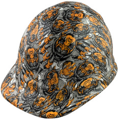 Fighting Tiger Hydrographic CAP STYLE Hardhats - Oblique View